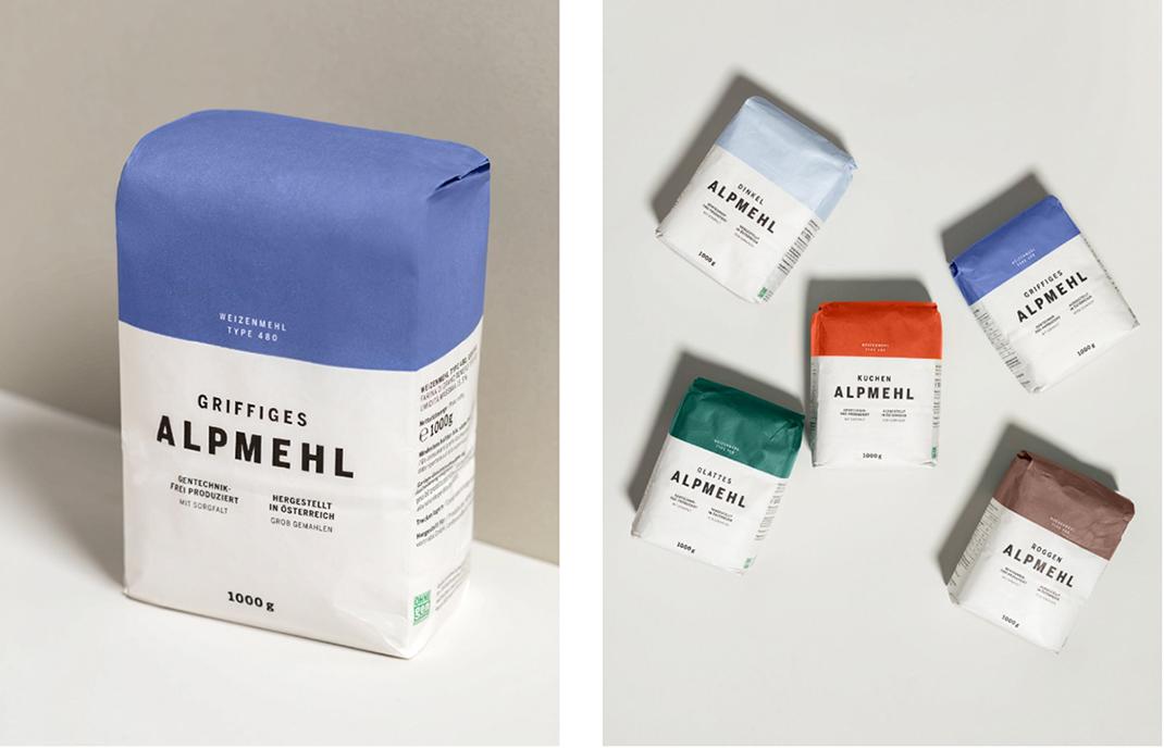 简约包装品牌设计和面粉品牌极简包装形象设计