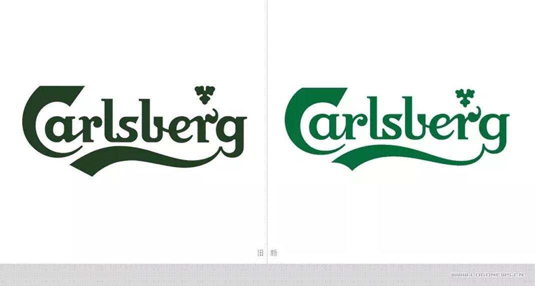 嘉士伯啤酒包装设计和logo升级